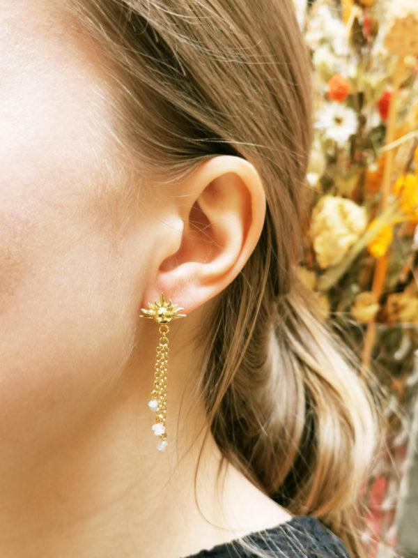 Boucles d'oreilles Soleil Vermeil