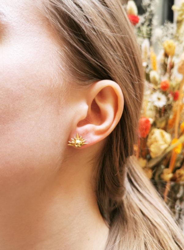 Puces d'oreilles Soleil Vermeil