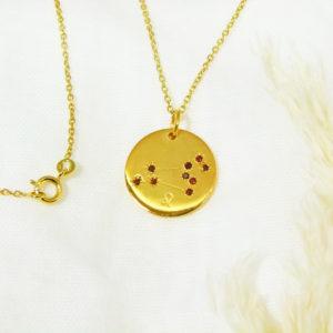 Médaille constellation Lion Vermeil & Grenats