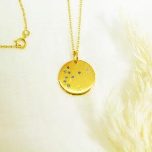 Médaille constellation Poisson Vermeil & Topazes
