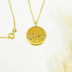 Médaille constellation Scorpion Vermeil & Topazes