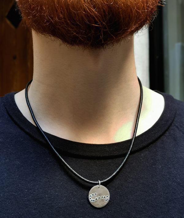 Médailles constellations Argent porté homme