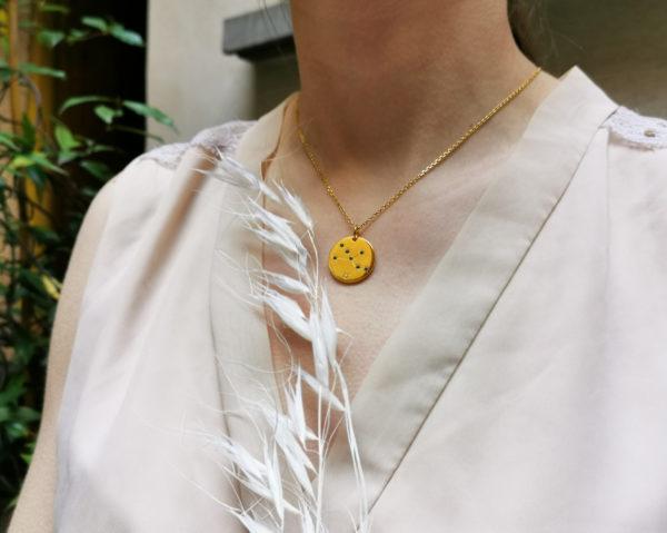 Médaille constellation signe Astrologique du zodiaque Vermeil